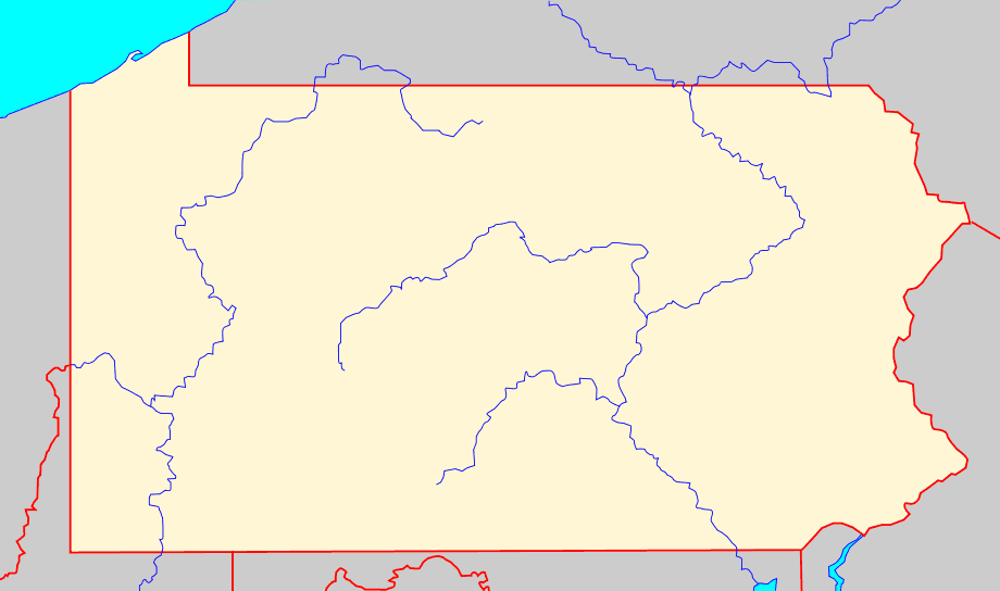 Blank Map Of Pa With Rivers