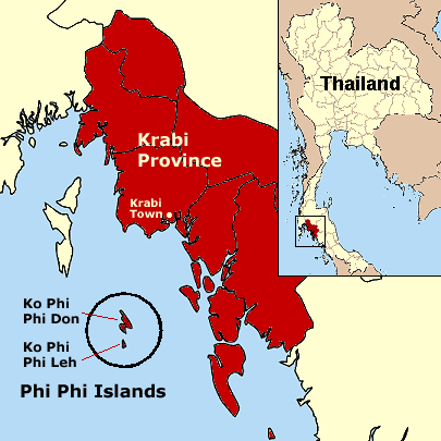Phi Phi Islands large map