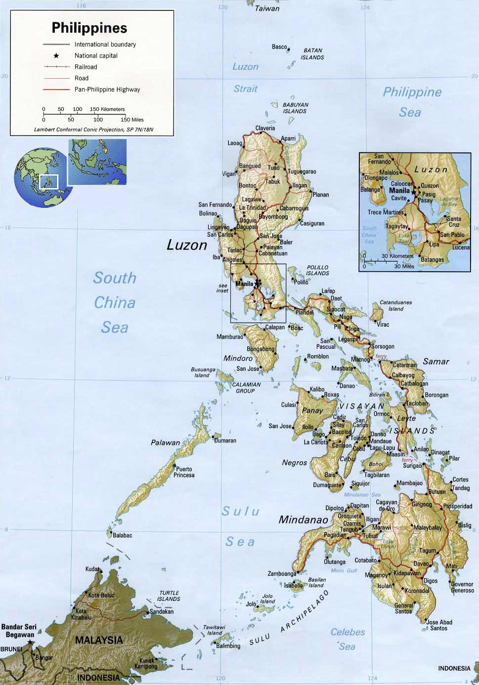 Philippines 3 large map
