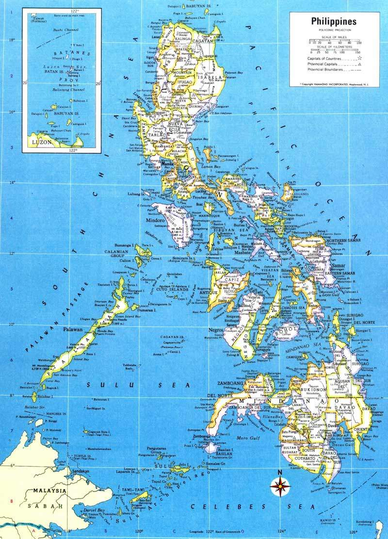 Philippines Map large map