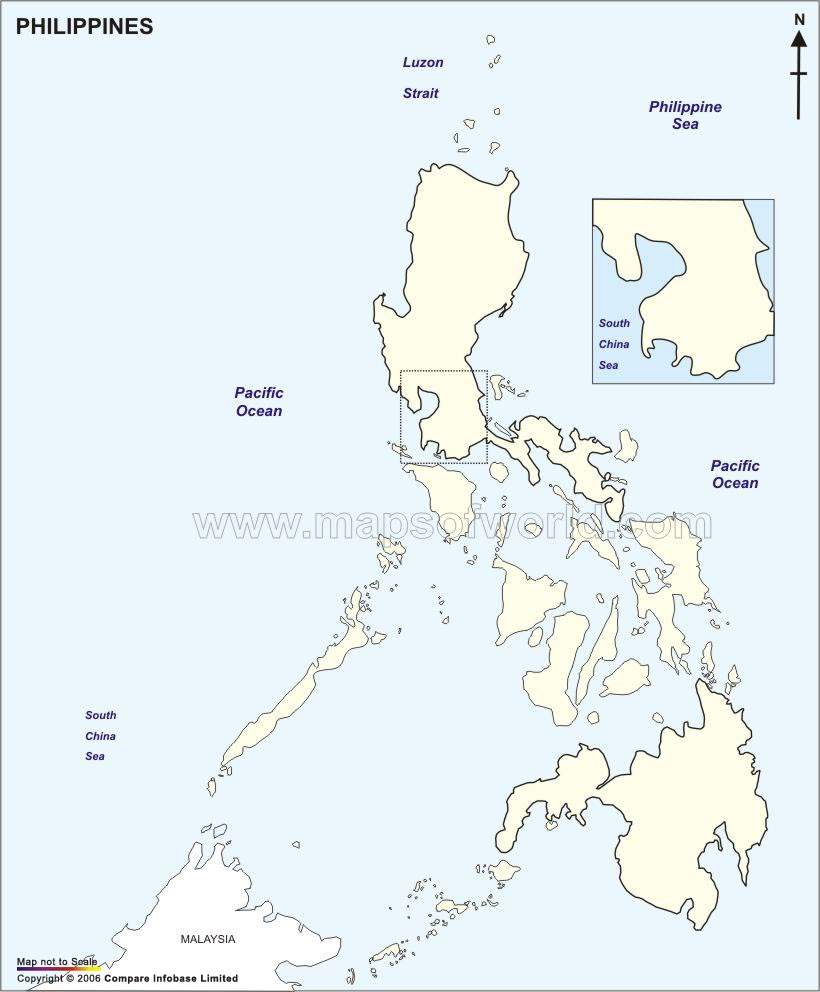 outline map of the philippines