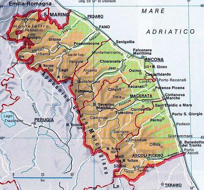 Phisical Map of Ancona Mapsofnet