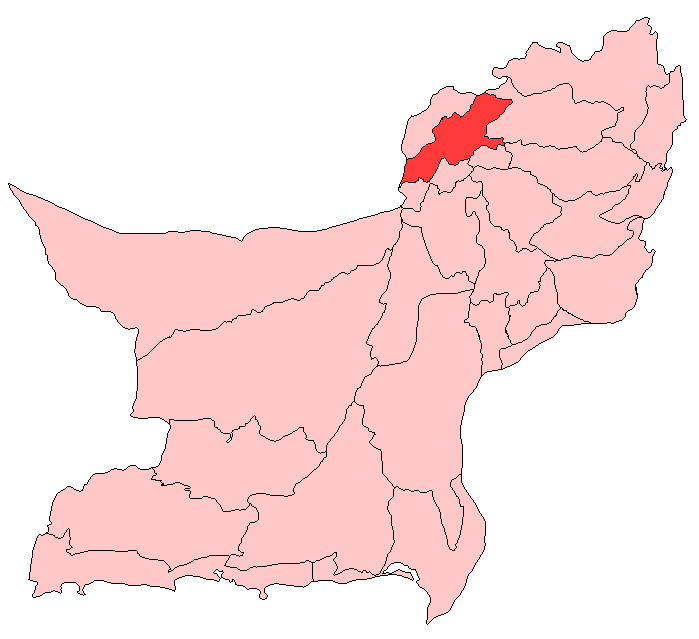 Pishin District large map