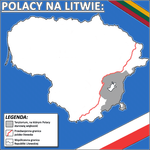 Polacy Na Litwie large map