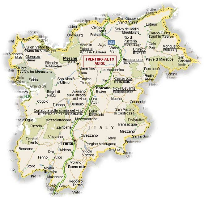 Political Map of Trentino Alto Adige Mapsofnet