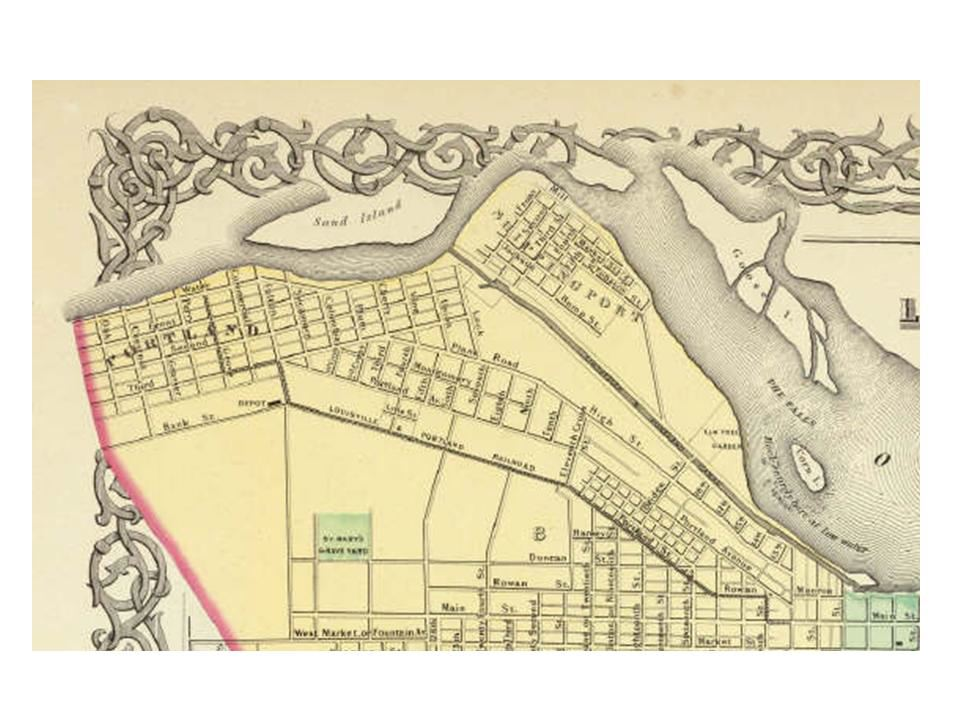 Portland1850s large map