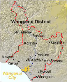 Where Is Wanganui In New Zealand Map.Position Of Wanganui District Mapsof Net