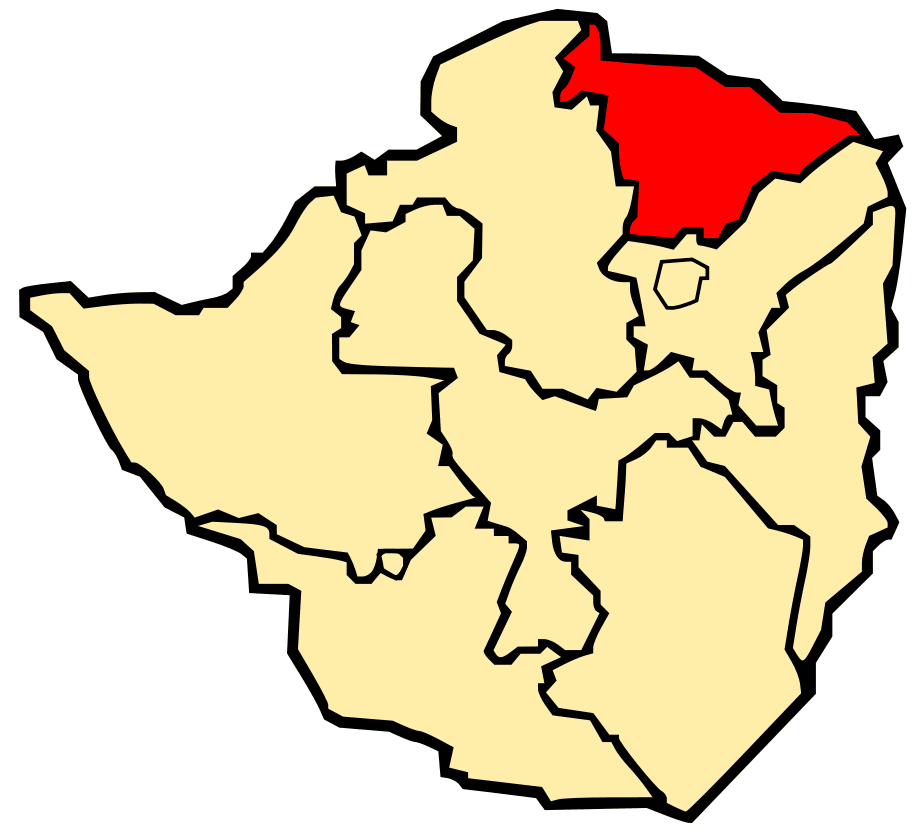 Province of Mashonaland Central large map