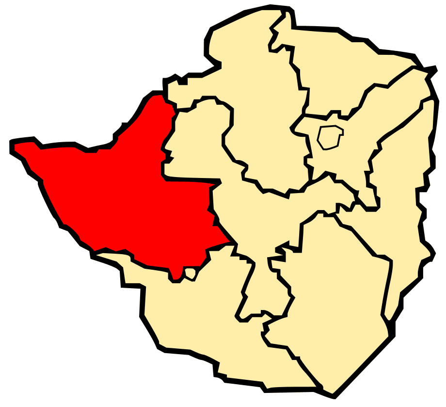 Province of Matabeleland North large map