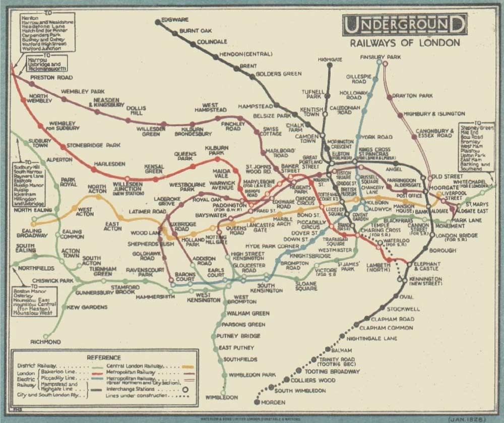 Railway Historical Map London large map