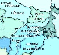 ranchi in india map Ranchi Indien Mapsof Net ranchi in india map