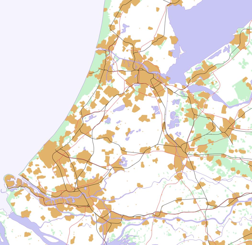 Randstad • Mapsof.net Aandstad