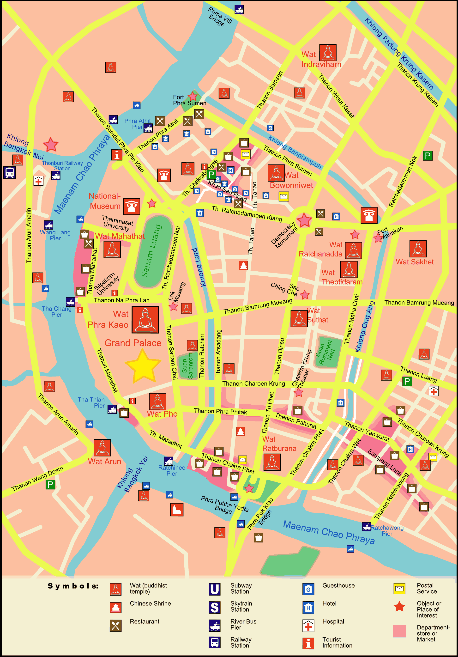 Rattanakosinmap large map