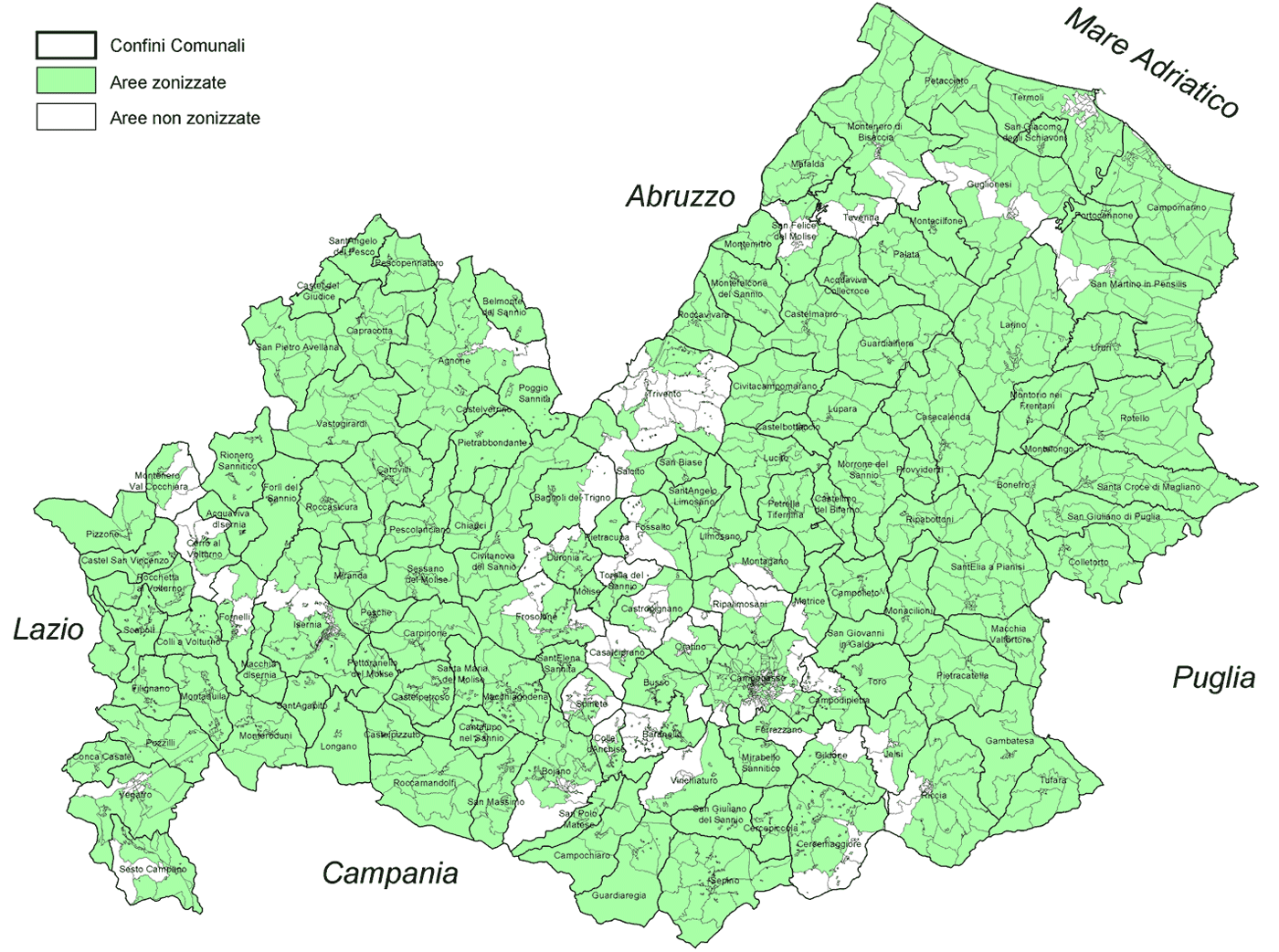 Region Map of Molise Mapsofnet