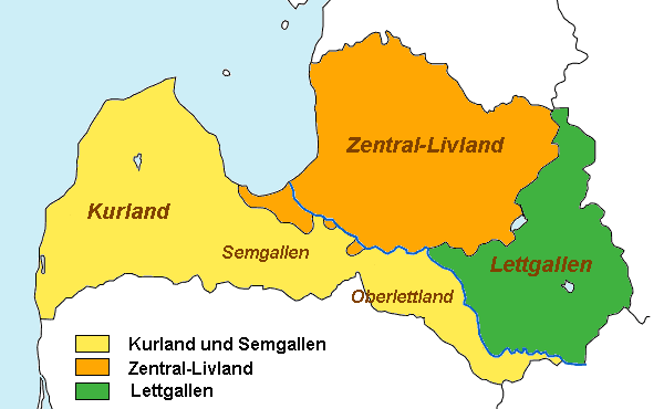 Regionen Lettlands large map