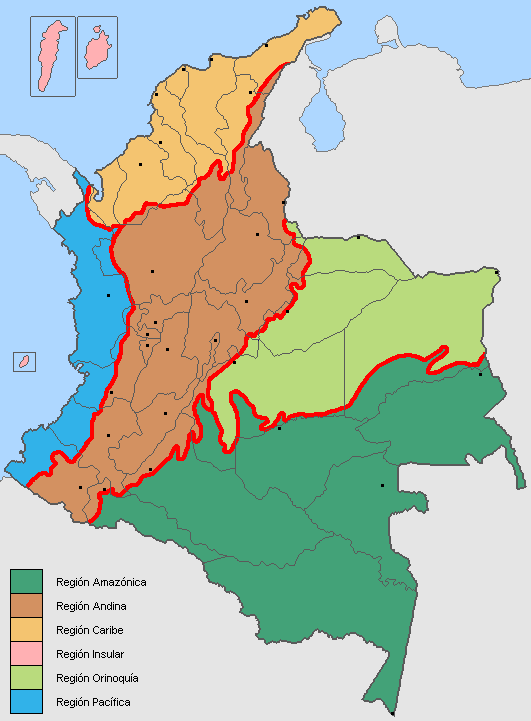 Regionsofcolombia large map