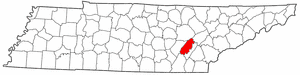 Rhea County Tennessee large map