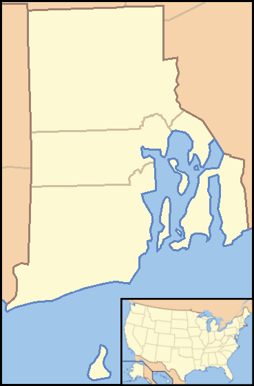 Rhode Island Locator Map With Us large map