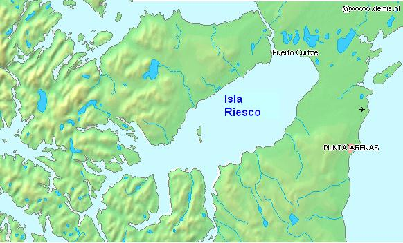 Riesco Insel large map