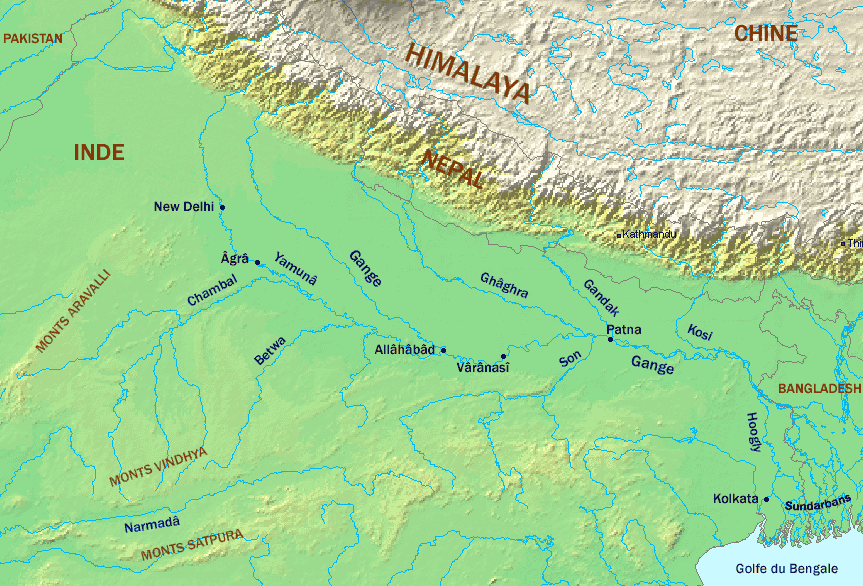 Hover to zoom map. Click on the River Ganges And Tributaries to view