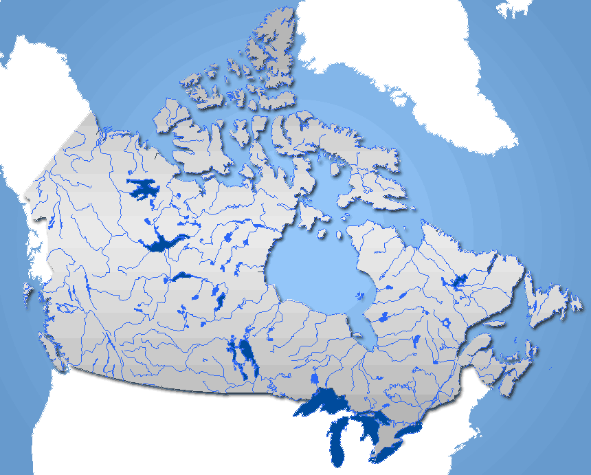 Rivers Canada Frame large map