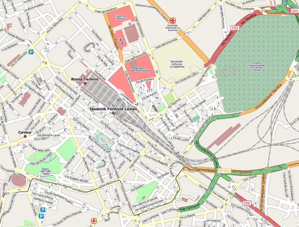 Rome Openstreetmap 2008 05 23 large map