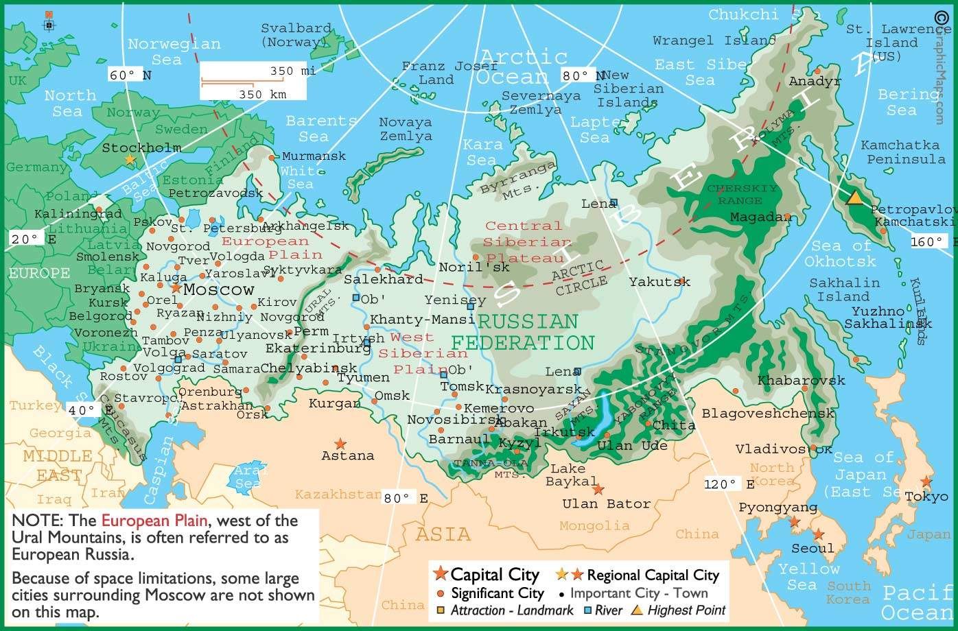 Russia Map 3 • Mapsof.net