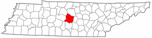 Rutherford County Tennessee large map