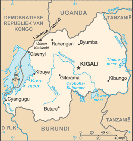 Rwandakaart large map