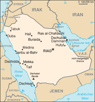 S Arabien Ge 1 large map