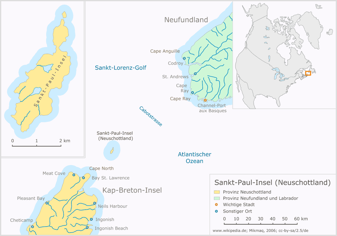 Sankt Paul Insel (neuschottland) large map