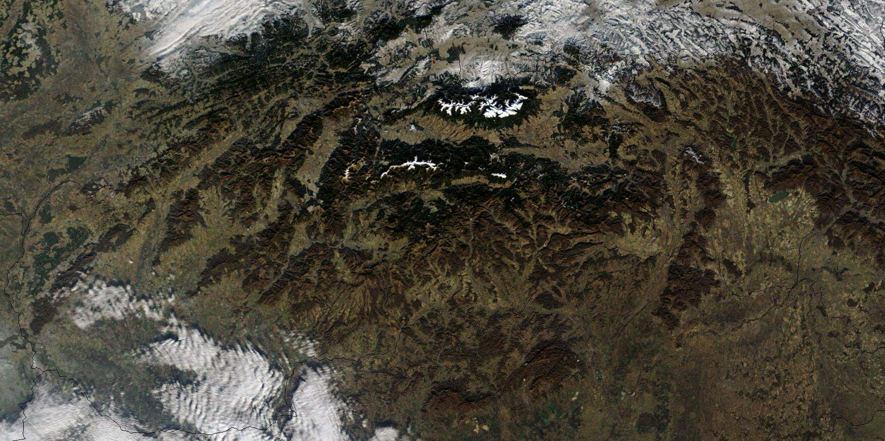 Satellite Image of Slovakia In December 2002 large map