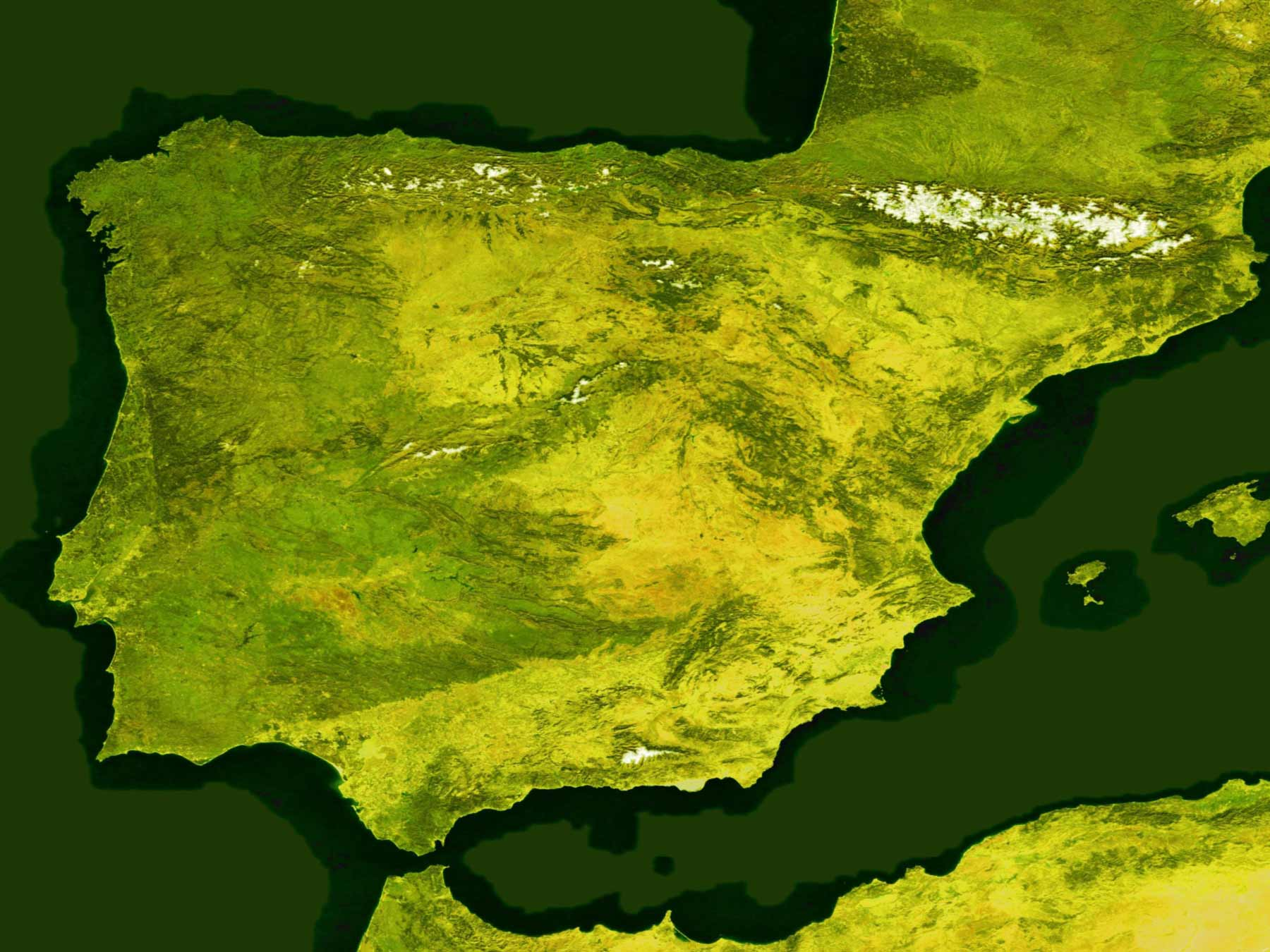 Satellite Image of Spain In January 2004 (resaltado)