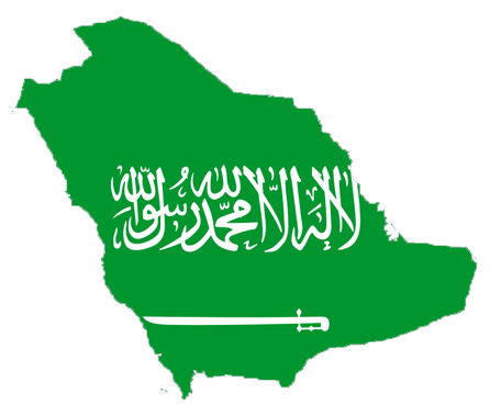 Saudi Arabia Flag Map large map