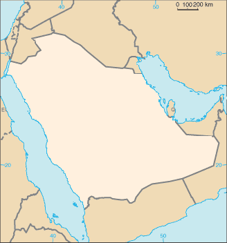 Saudi Arabia Map Blank large map