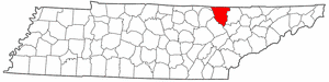 Scott County Tennessee large map