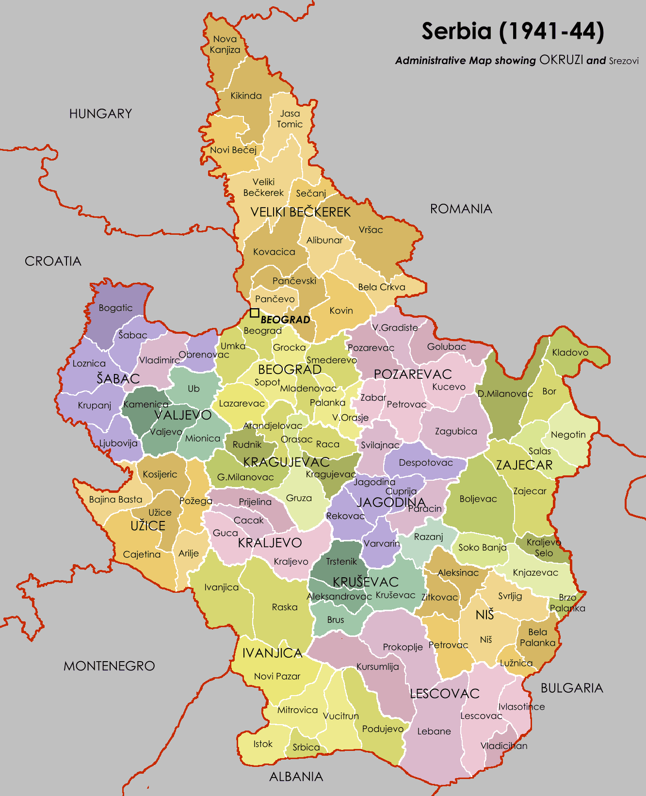 Serbia Map Mapsofnet - Map of serbia