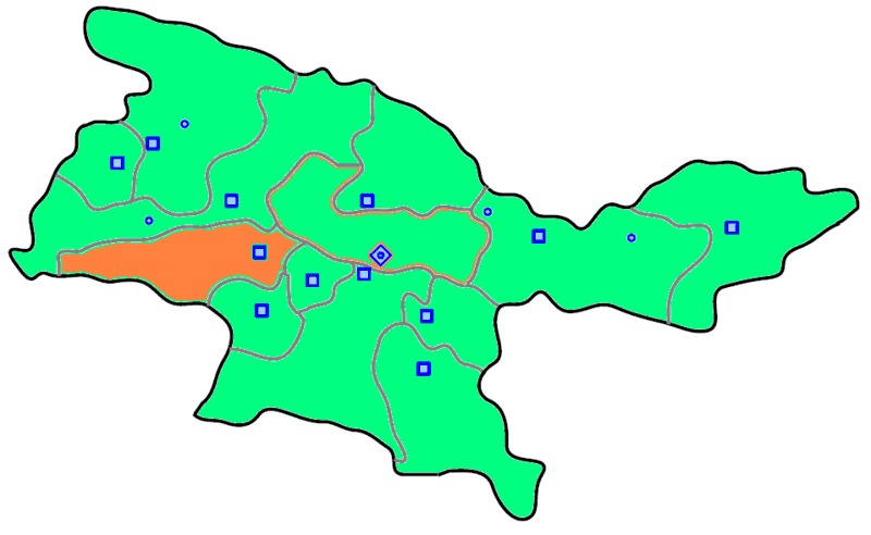 Shahriar County large map