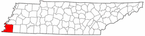 Shelby County Tennessee large map