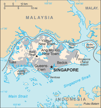 Singapore Cia Wfb Map large map