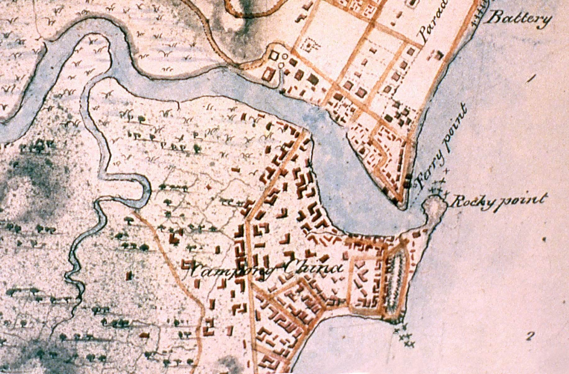 Singapore Map 1825 Detail large map