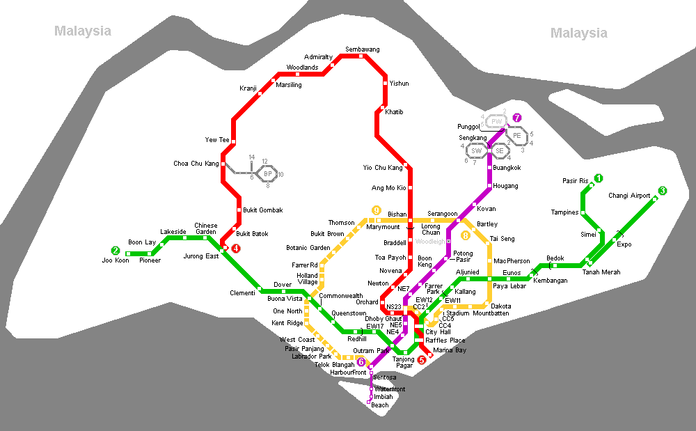 Singapore Metro Map Mapsof Net