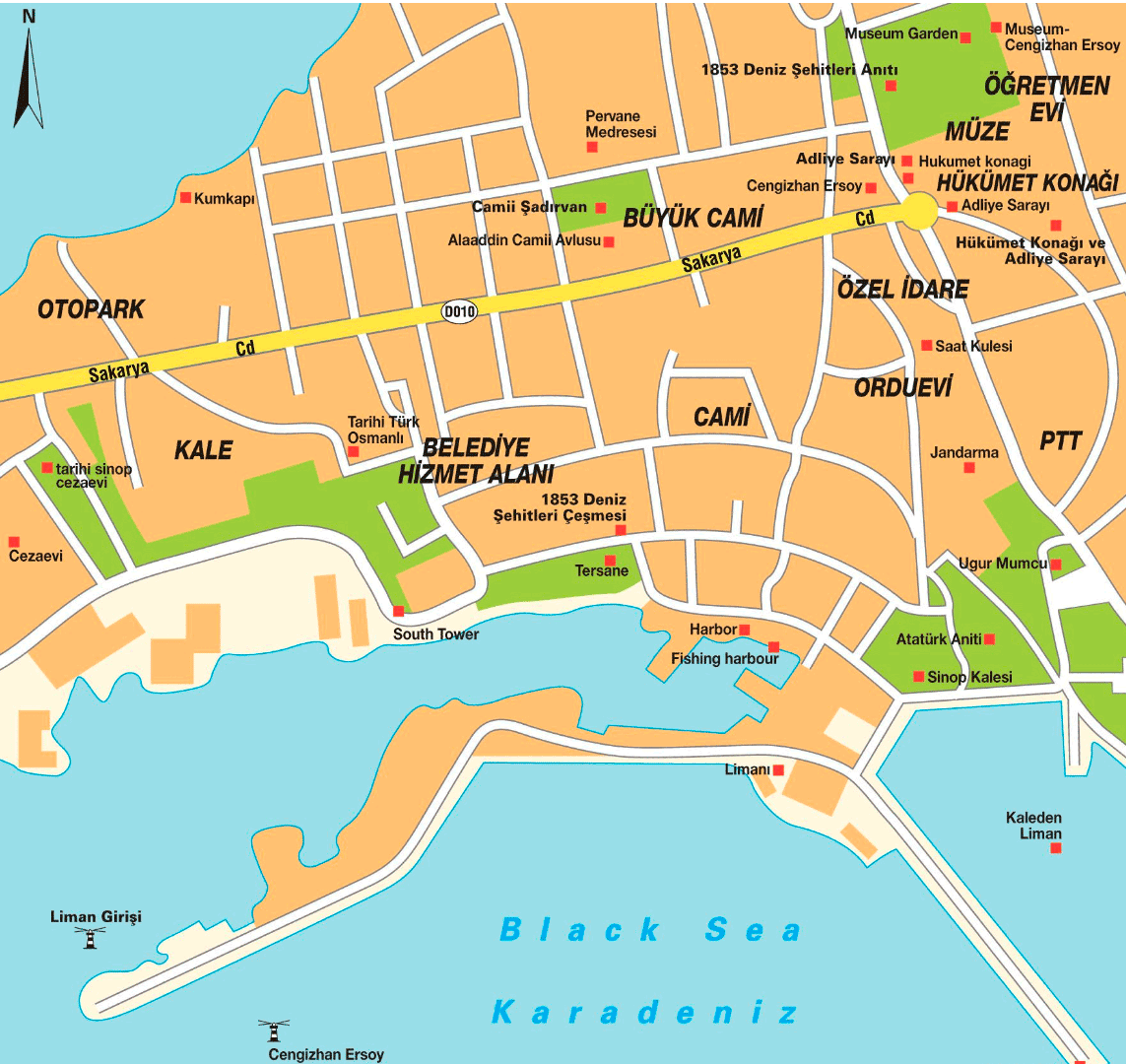 Sinop Turkey City Map Mapsofnet