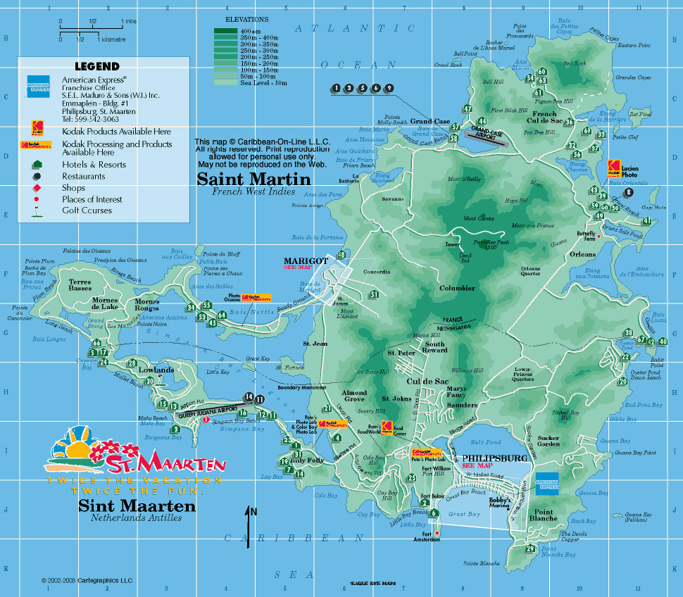 Sint Maarten large map