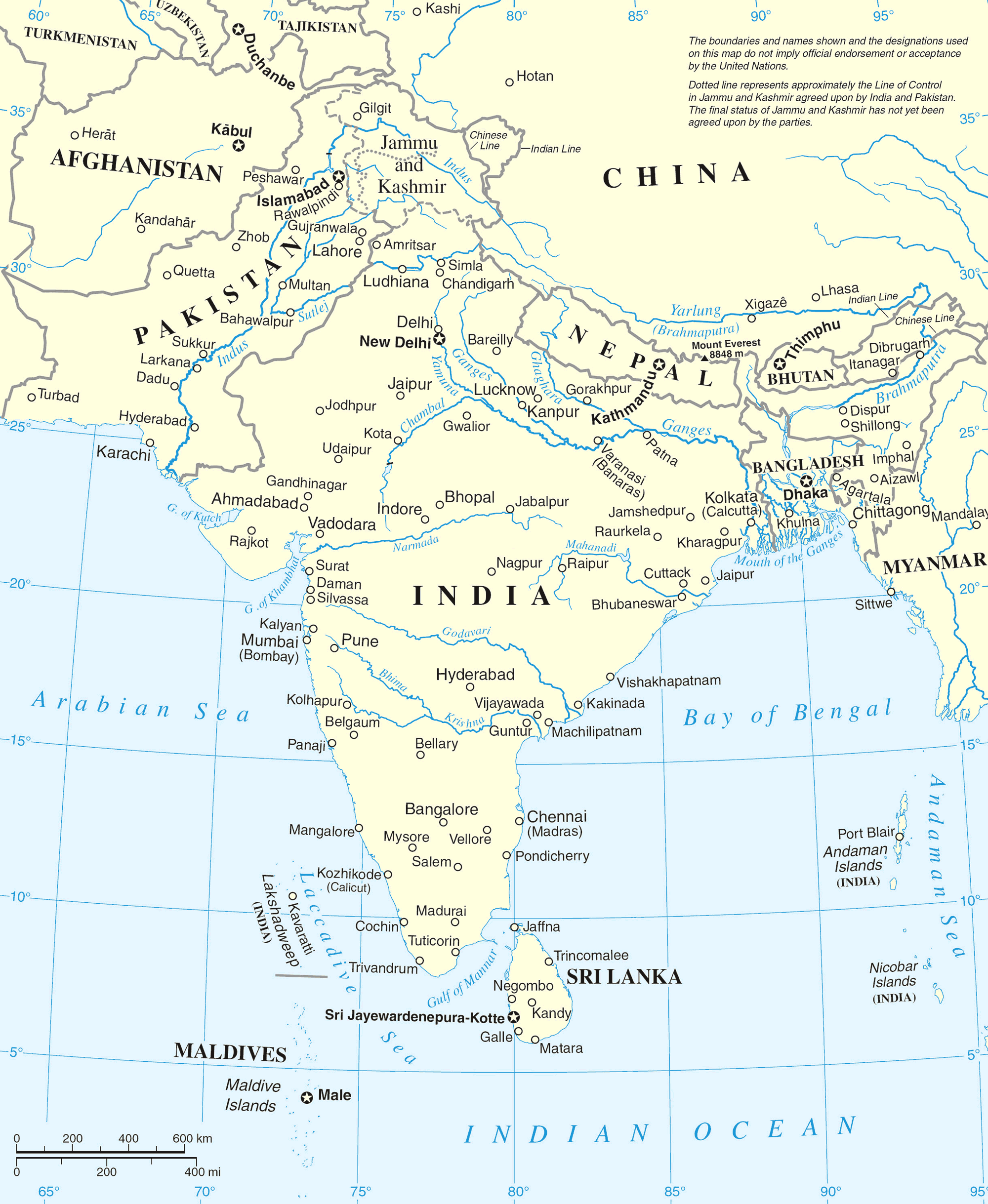 south asia map mapsofnet map
