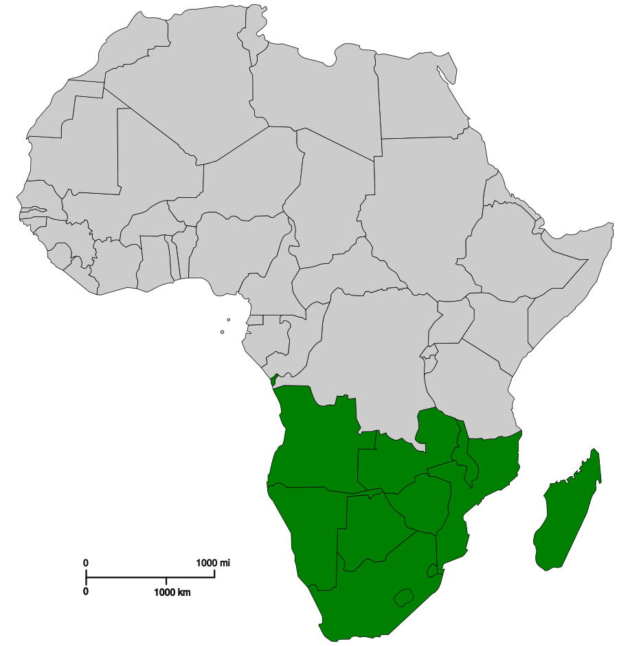 Http Mapsof Net Map Southern Africa
