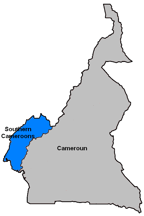 Southern Cameroons large map