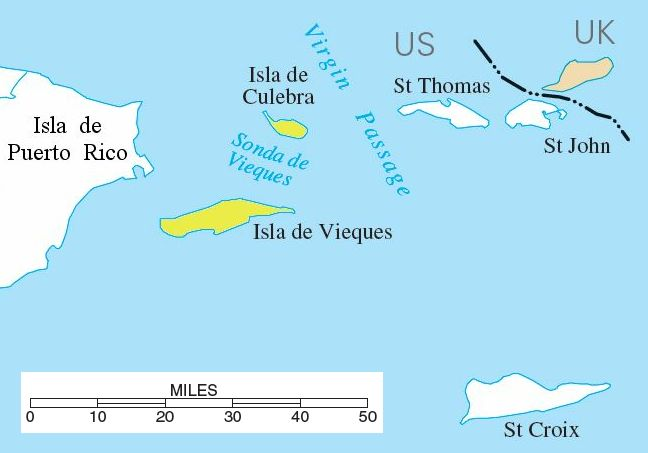Spanish Virgin Islands large map