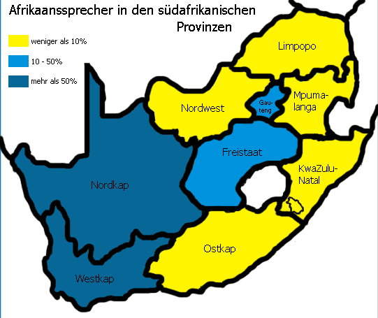 Speakers of Afrikaans German • Mapsof.net