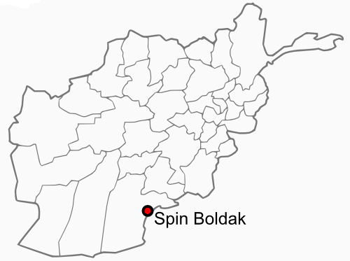 Spin Boldak Afghanistan Location large map